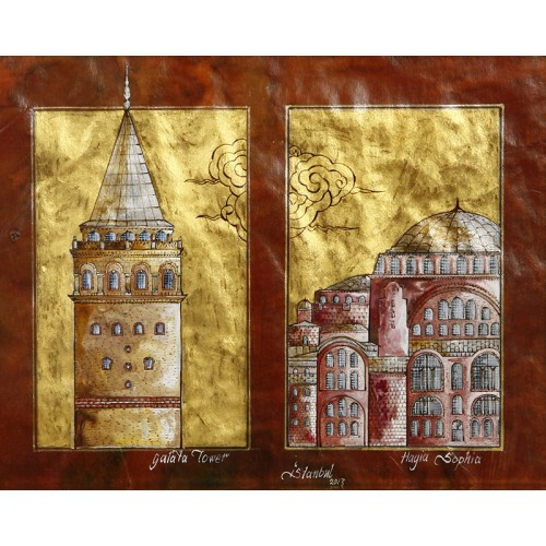 Galata Tower and Hagia Sophia Miniature