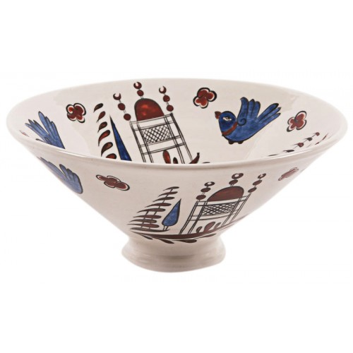 Ceramic Bowl with Bird Pattern