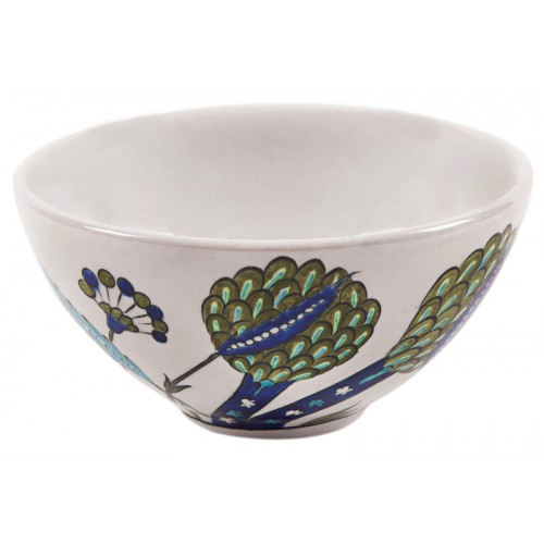 Iznik Ceramic Bowl with Artichoke Pattern