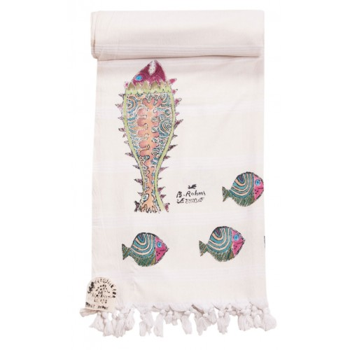 Bedri Rahmi Seabream Turkish Hamam Towel / Pestemal