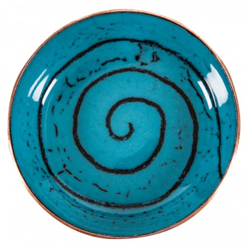 Turquoise Enamel Pot - 4
