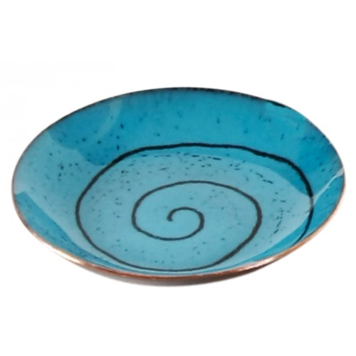 Turquoise Enamel Plate - 1