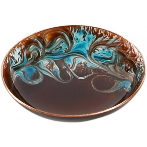 Bronze Blue Enamel Plate - 2