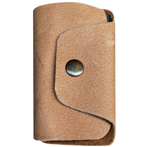 Leather Keyholder - Beige