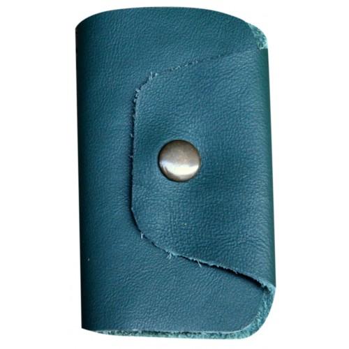 Leather Keyholder - Blue