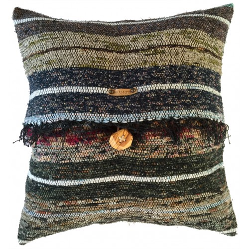 Rag Rug Pillow Case - 7