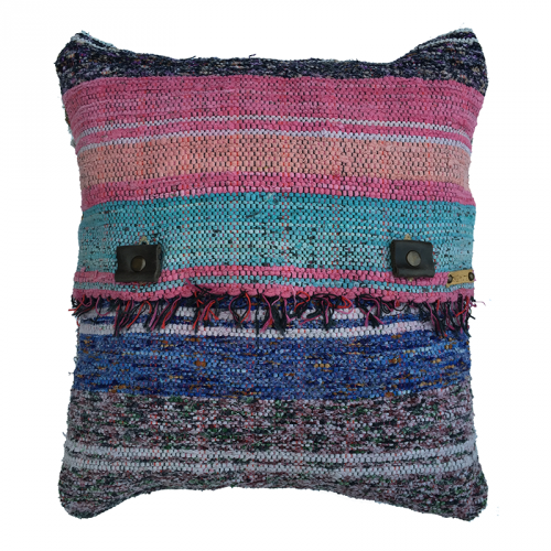 Rag Rug Pillow Case - 2