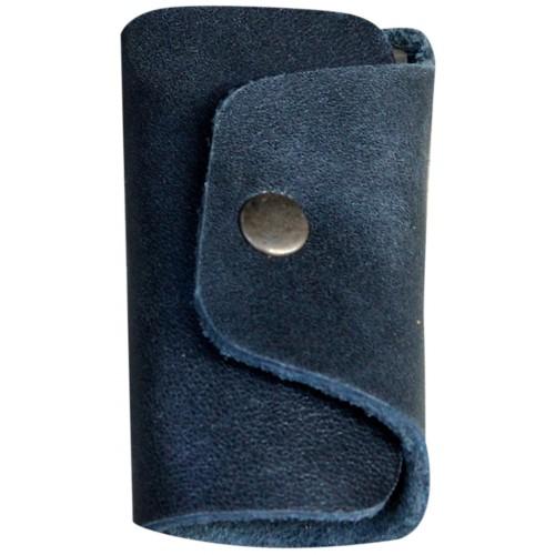 Leather Keyholder - Dark Blue