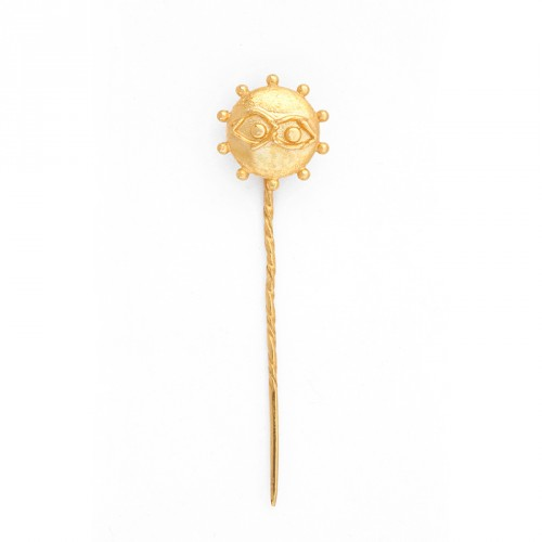 """Eye"" - 24-carat Gold Plated Silver Pin"