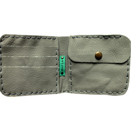 Leather Wallet - Grey