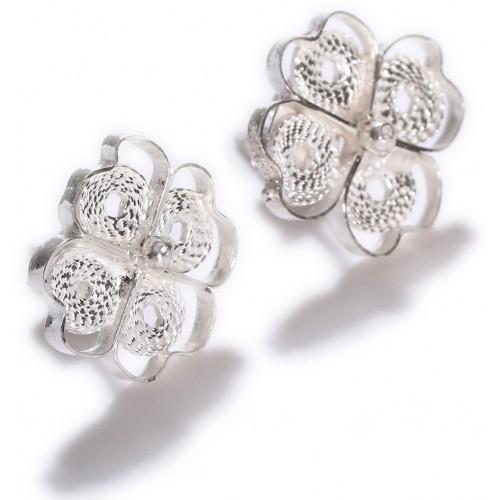Filigree Four Leafed Clover Earrings