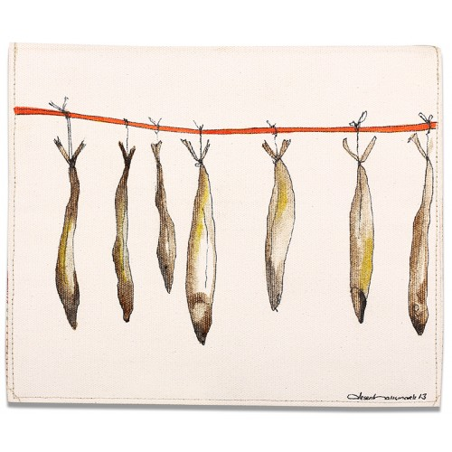 Mackerels Oil on Canvas iPad Mini Case/Wallet