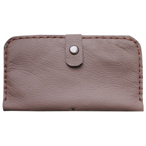 Leather Wallet for Her - Lilac