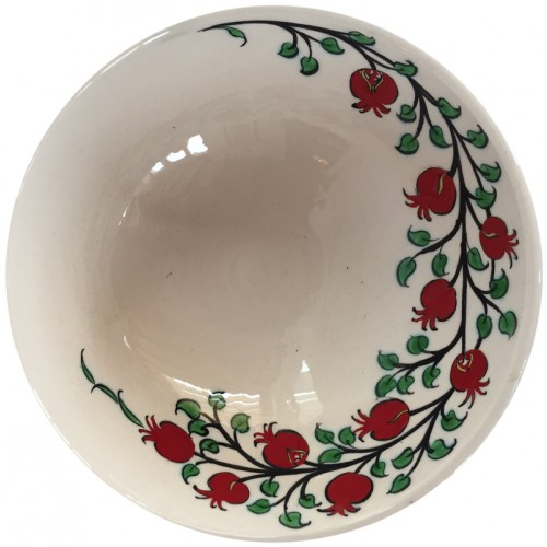 Ceramic Bowl with Ottoman Apple Patterns