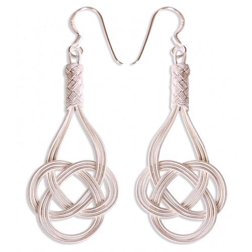 Kazaziye 'Love Knot' Silver Earrings