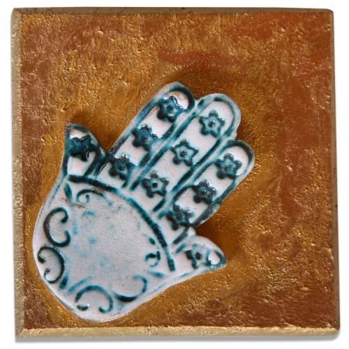 Ceramic Tablet - Fatima's Hand (Hamsa)