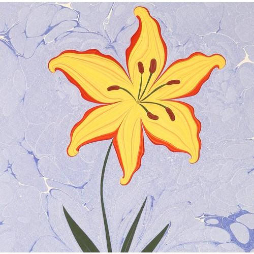 Lilium Marbling Art on Paper - 2