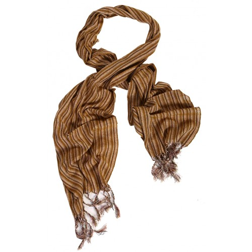 Silk Male Scarf - Caramel Color