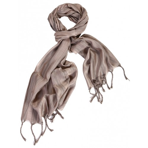 Silk Male Scarf - Mink Color