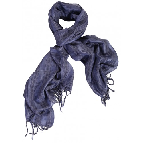 Silk Scarf - Dark Blue