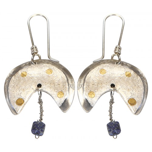 Silver Earrings with Lapis