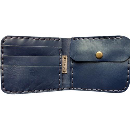 Leather Wallet - Indigo Blue