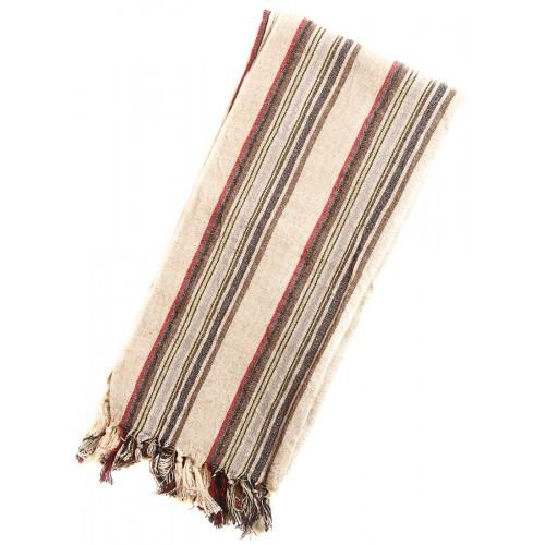 Linen Turkish Towel / Pestemal - Multicolor stripe