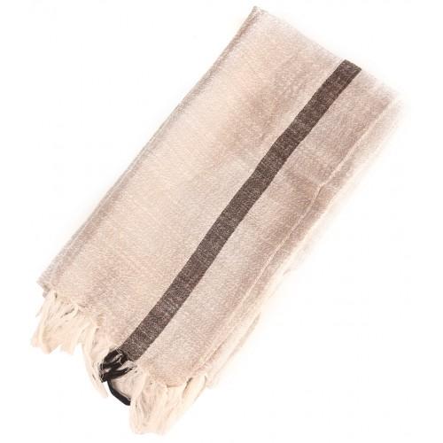 Linen Turkish Hamam Towel / Pestemal - Black stripe