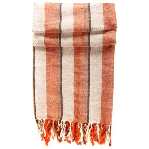 Linen Turkish Hamam Towel / Pestemal - Orange