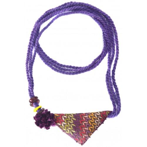 Muska Necklace - Purple