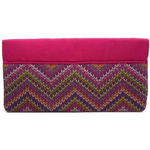 Fuchsia Kilim Clutch Bag