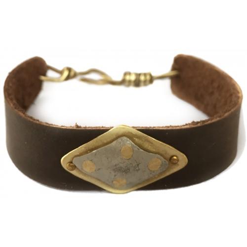 Leather Wristlet - Silver