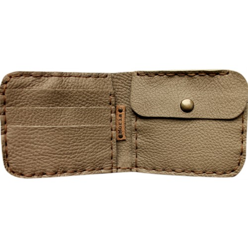 Leather Wallet - Mink