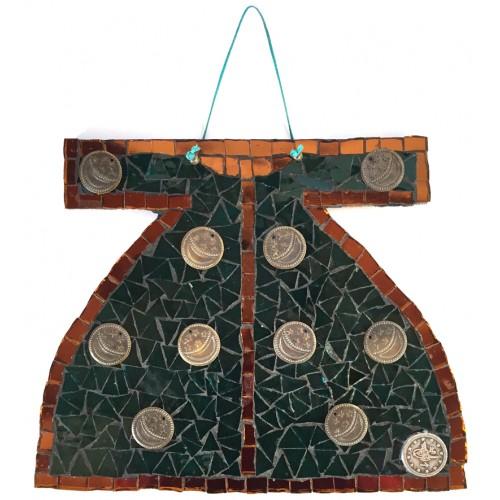 Mosaic Kaftan Green