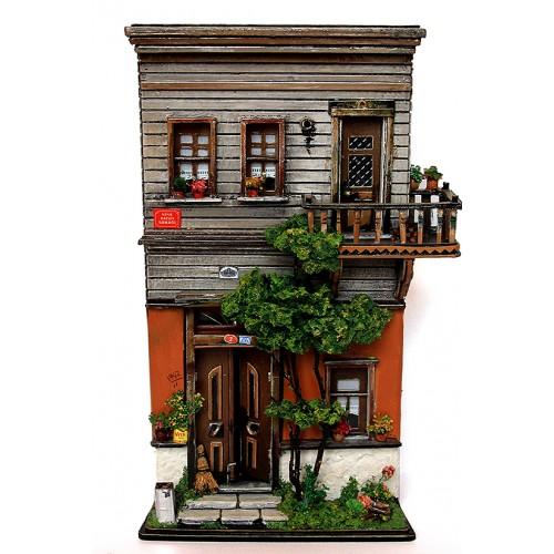 Miniature Historical Ottoman House - Nene Hatun Street Istanbul