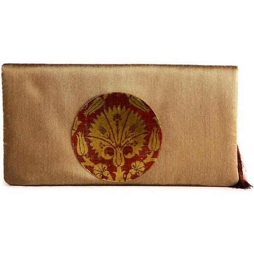 Milky Chocolate Ottoman Clutch Bag