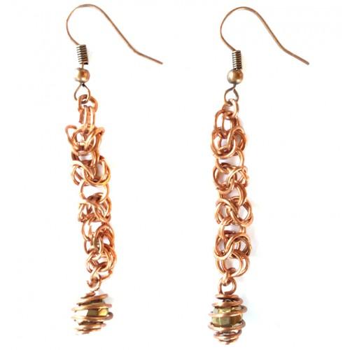 Byzantian Chain Copper Earrings