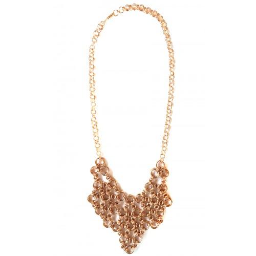 Armor Chain Triangle Copper Necklace