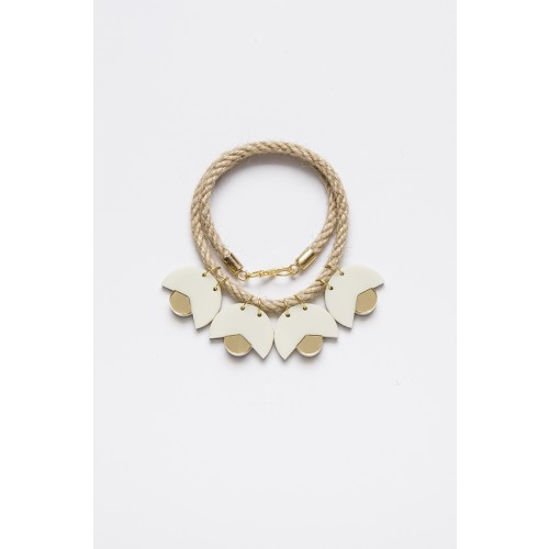 SMiLe By EzGi 4' Necklace - White & Gold
