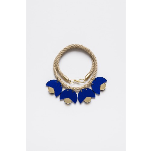 SMiLe By EzGi 4' Necklace- Blue & Gold