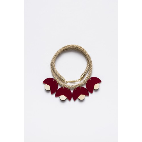 SMiLe By EzGi 4' Necklace - Red & Wood