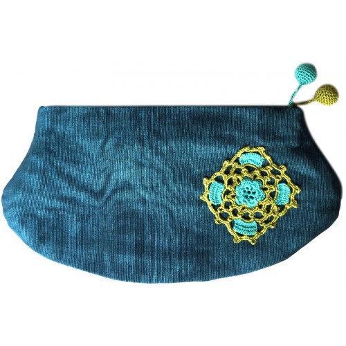 Kutnu Purse - Blue Lacework