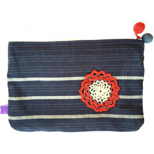 Kutnu Wallet - Dark Blue Striped