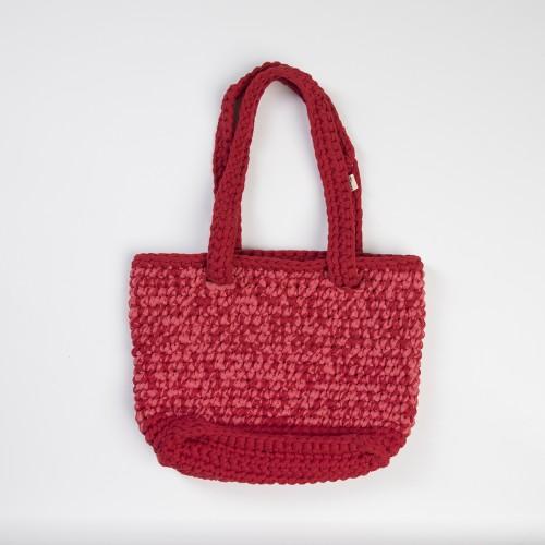 Red Knitted Shoulder Bag