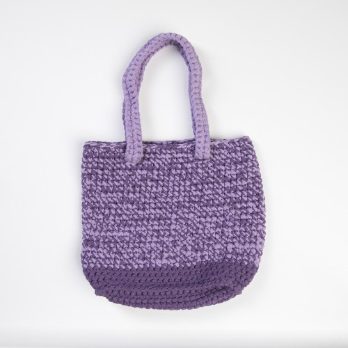 Purple Knitted Shoulder Bag
