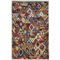 Tribal Conflict Kilim - Weaved by Cahide Dönmez