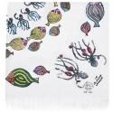Bedri Rahmi Table Cloth with Octopus Pattern