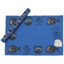 Bedri Rahmi Table Mat Block Printing - Dark Blue