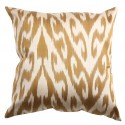 Silk Ikat Pillow Cover - Golden