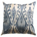 Silk Ikat Pillow Cover - Grey